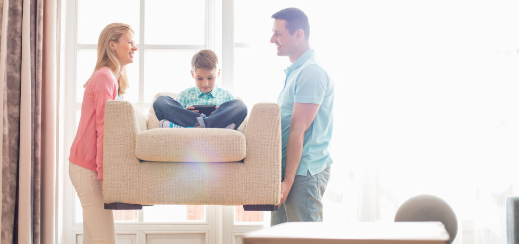 Family excited to sell and pack their furniture
